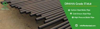 Din 17175 St45.8 seamless carbon steel pipe production